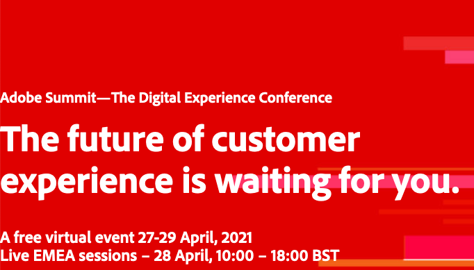 webinar_magazin: Adobe Summit—The Digital Experience Conference https://t.co/uZm5NuwY6I The future of customernexperience is waiting… https://t.co/Xle7JFI6qU